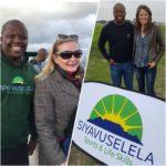 Anele Magqwaka, founder of Siyavuselela with Cape Town Premier Hellen Zille